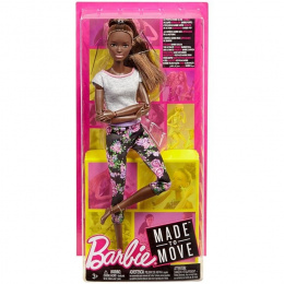 MATTEL Barbie lalka Made to move FTG80